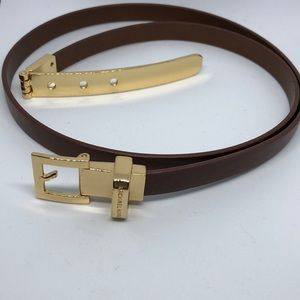 Michael Kors brown belt with gold hardware